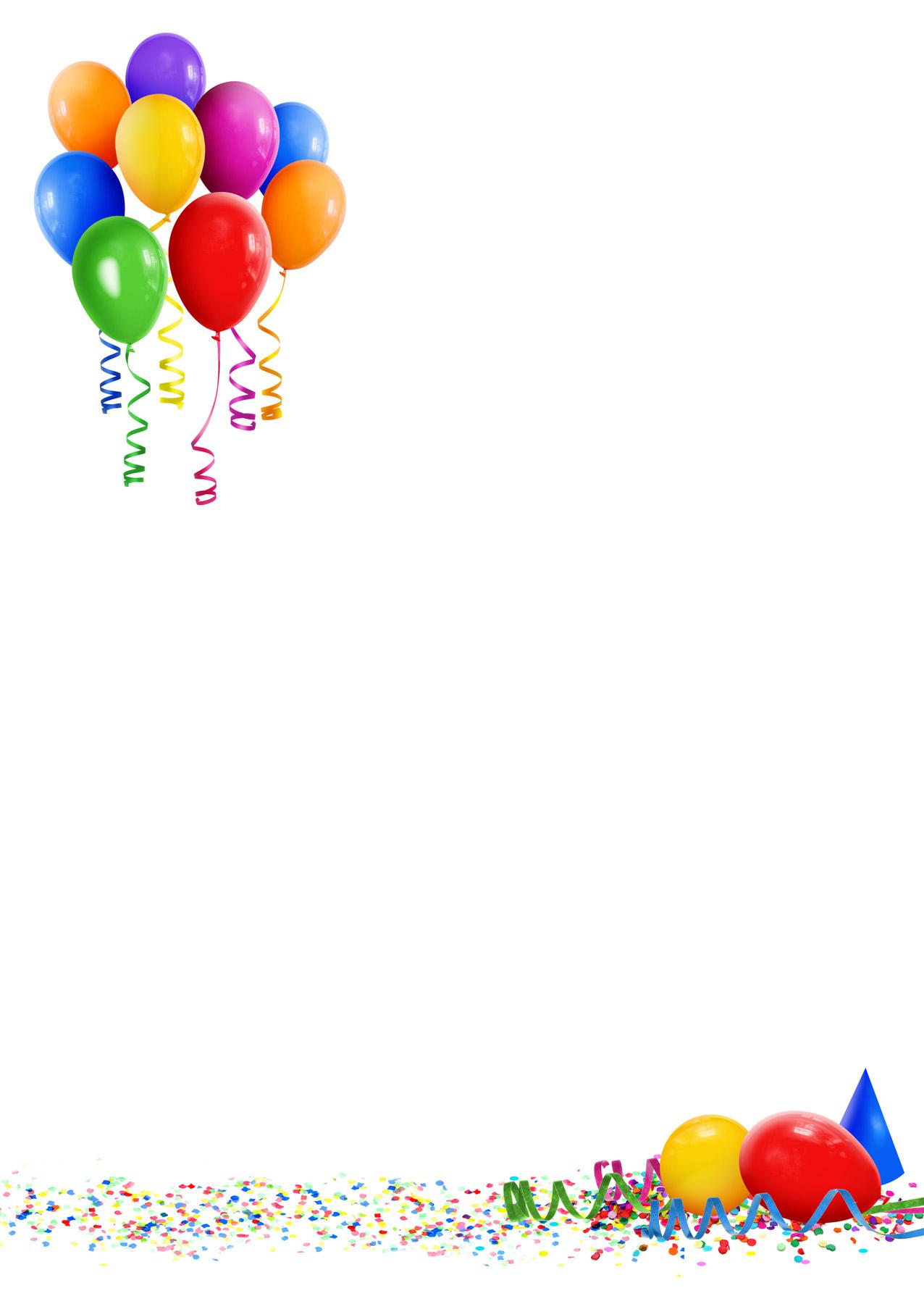 Лист поздравлений с днем рождения 25