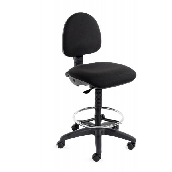 Cadeira alta de trabalho com apoio de p s londres for Sillas de escritorio altas
