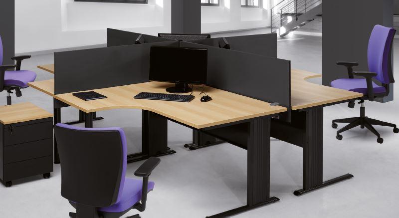 Painel divisor em melamina para secret rias de escrit rio for Mobiliario de escritorio