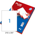 Etiquetas Plus Office 210x297mm A4 100 Folhas