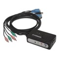 KVM Switch VGA USB 1U-2PC+Cabo