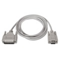 Cabo Serie Null Modem, DB9/H-DB25/M, 1.8 M