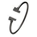 Bracelete Folli Follie F Prata Esterlina (ø 58 mm) Preto