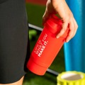 Shaker com compartimento Life Is What You Make It. 500 ml Cor: Vermelho