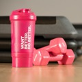 Shaker com compartimento Want Better. Do Better. 500 ml Cor: Rosa