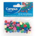 Kit Manualidades CAMPUS Olhos Cores 10mm