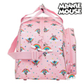 Saco de Desporto Minnie Mouse Rainbow Cor de Rosa (23 L)