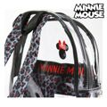 Mochila Escolar Minnie Mouse 72903 Transparente Preto