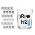 Copo Drink H2 Transparente Vidro (380 Ml)