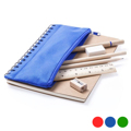 Caderno com Estojo Integrado (6 pcs) Azul