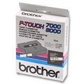 Fitas Brother Laminadas Branco/Preto 18 mm x 15 m