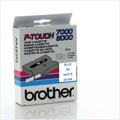 Fitas Brother Laminadas Branco/Azul 18 mm x 15 m