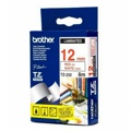 Fita Brother P-Touch Branco/Vermelho 12 mm x 8 m