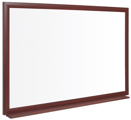 Quadro Branco Lamitex Reciclado 45x60cm Moldura Madeira MDF Executive Earth-It Cerejeira