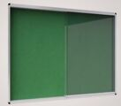 Vitrine Interior 926x661mm Feltro Exhibit Verde