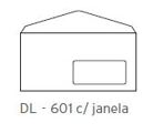 Envelopes DL Janela 110x220mm 80Gr