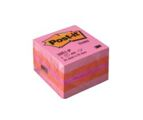 Bloco de Notas Aderentes Cubo 400 Folhas Morango 51x51mm Post-It