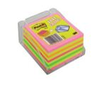 Bloco de Notas Aderentes Cubo 450 Folhas Néon 76x76mm com Base Post-It