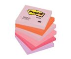 Bloco de Notas Aderentes 76x76mm Post-It Alegria 6 Blocos