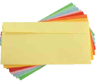 Envelopes Salmão  110x220mm 80Gr