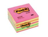 Bloco de Notas Aderentes Cubo 450 Folhas Néon 76x76mm Post-It