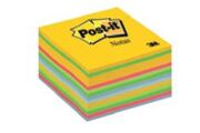 Bloco de Notas Aderentes Cubo 450 Folhas Mix Néon 76x76mm Post-It