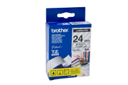 Fita Brother P-Touch Transparente/Preto 24 mm x 8 m