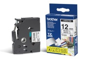 Fita Brother P-Touch Branco/Preto 12 mm x 8 m