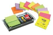 12 Bloco de Notas Aderentes Post-It Z Note Zig-Zag + Dispensador Millenium + Post-It Index
