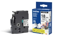 Fita Brother P-Touch Branco/Preto 18 mm x 8 m