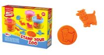 Kit de massa de modelar Stamp  Your Zoo 3 Cores x 35 g