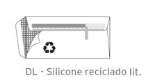 Envelopes DL Silicone Lit. Reciclado 110x220mm 90Gr
