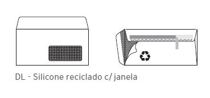 Envelopes DL Silicone Janela Reciclado 110x220mm 90Gr