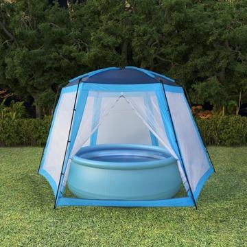 Tendas Para Piscina 500x433x250 Cm Tecido Azul