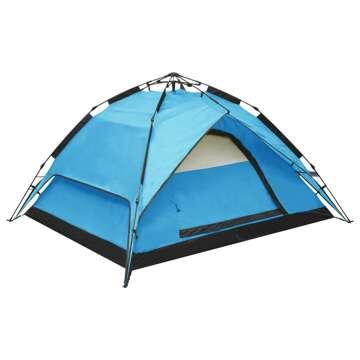 Tenda de campismo pop-up 2-3 pessoas 240x210x140 cm azul