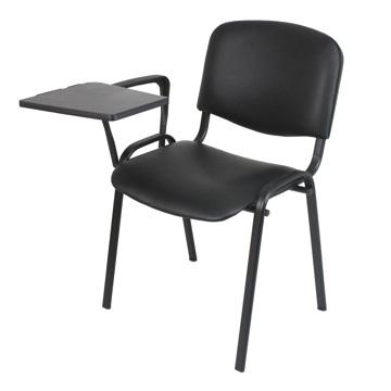 Cadeiras de Formação Preto Pele Sintética com Palmatória RVaz