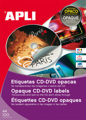 Etiquetas Cd-dvd Permanente Opaco Ext ø 114 Int ø 18