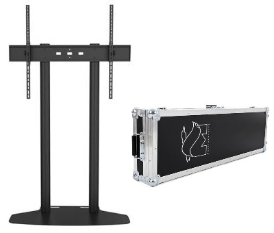 "Suportes TV / Televisão 70 - 110"" M PUBLIC DISPLAY BASE DUAL 180 FLIGHTCASE c/ Mala de Transporte Preto Multibrackets"