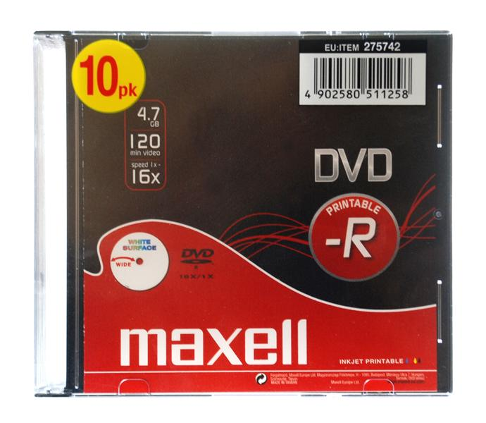 DVD-R Imprimivel Maxell Pack 10Un.