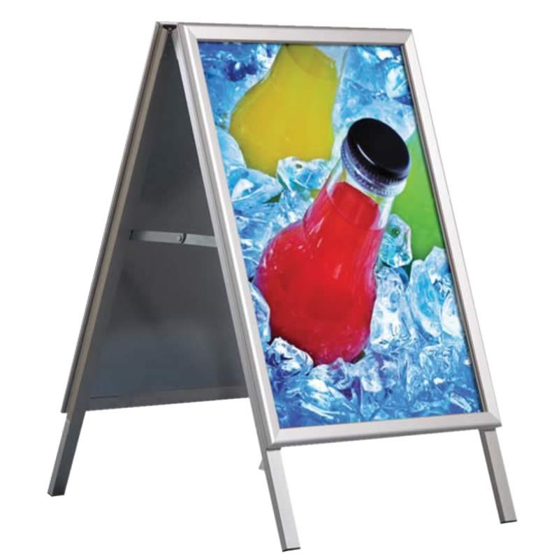 Suportes Expositor P/ Poster Eco A-Board B2 500x700mm Interior