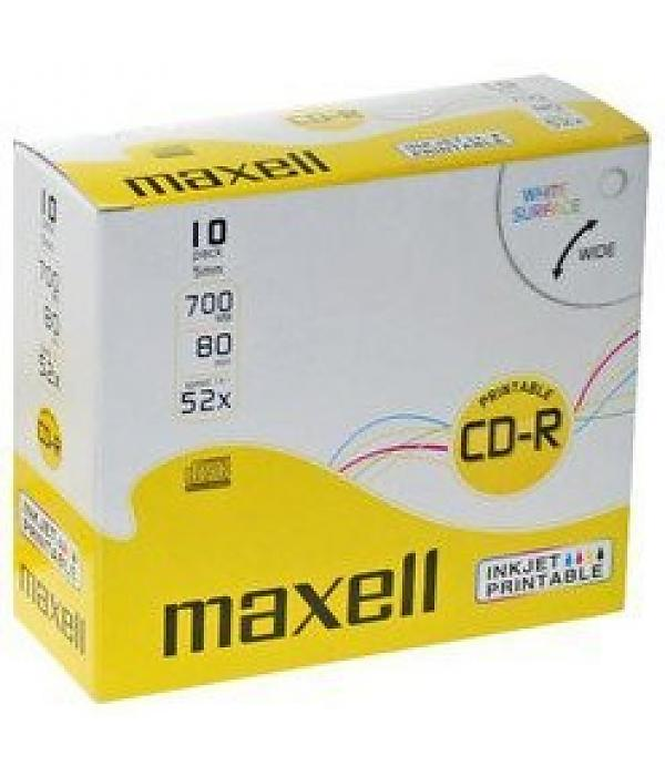CD R 80 PR-W Maxell Multi Uso Pack 10Un.