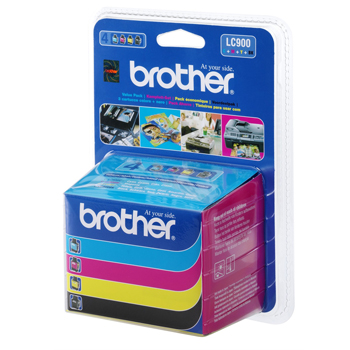 Tinteiro Brother Pack 4 Cores LC900VALBP