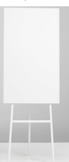 Flip Chart Branco 707x1960x650 mm ONE Flip Chart