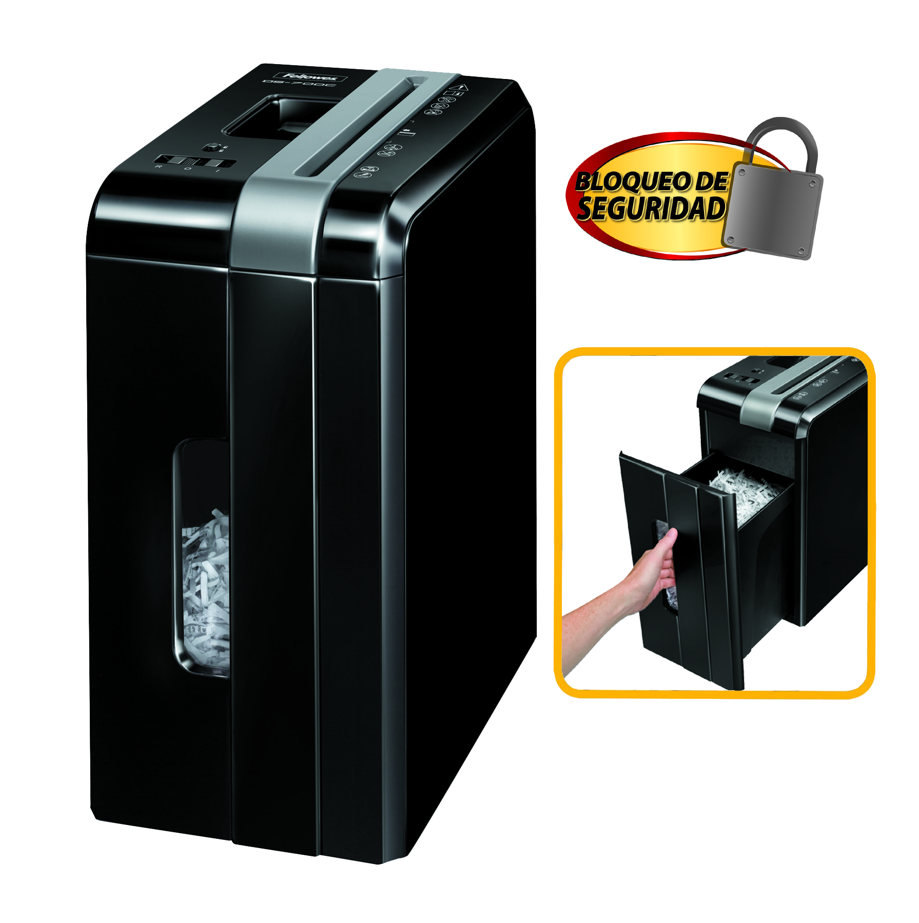 Destruidora de Papel Fellowes DS-700C, 7fls, 10L