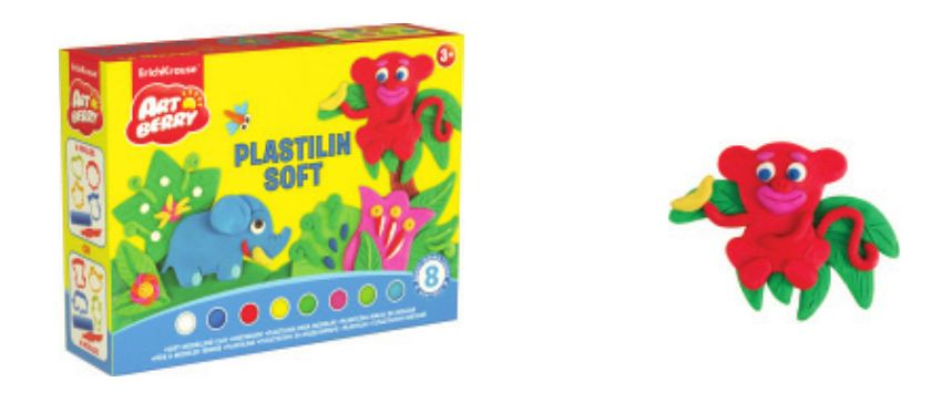 Kit de Plasticina macia Play in Clay 6 Cores x 50 g