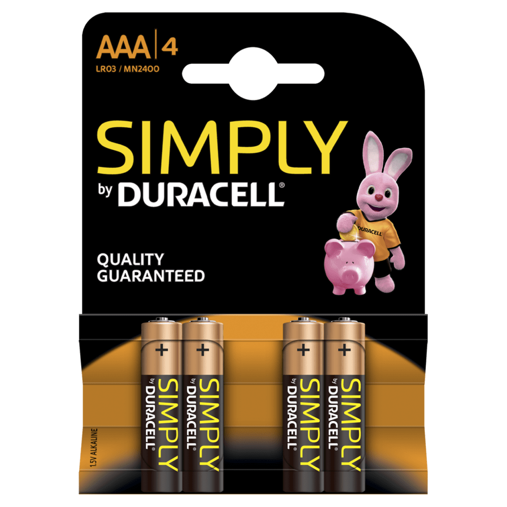 Pilhas Duracell Simply AAA