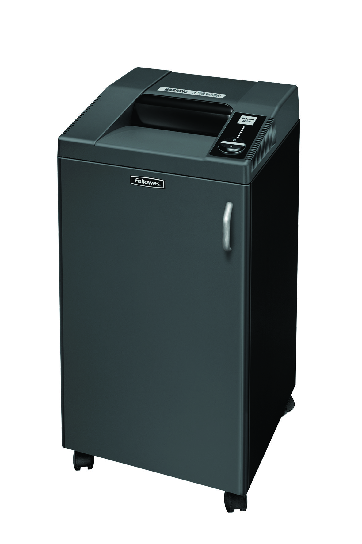 Destruidora de Papel Fellowes 3250HS, 7 Fls, 100L  com Rodas (Corte 0.8x50mm)