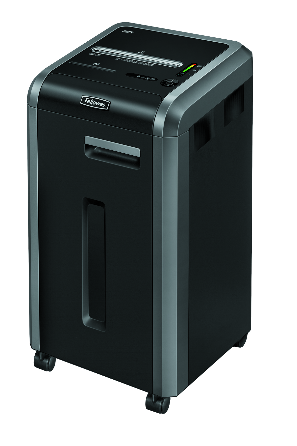 Destruidora de Papel Fellowes 225i, 22 Fls, 60L, CD/DVDs com Rodas