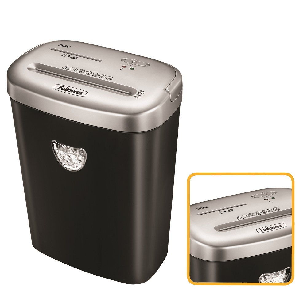 Destruidora de Papel Fellowes 53C, 10fls, 25L, CD/DVDs