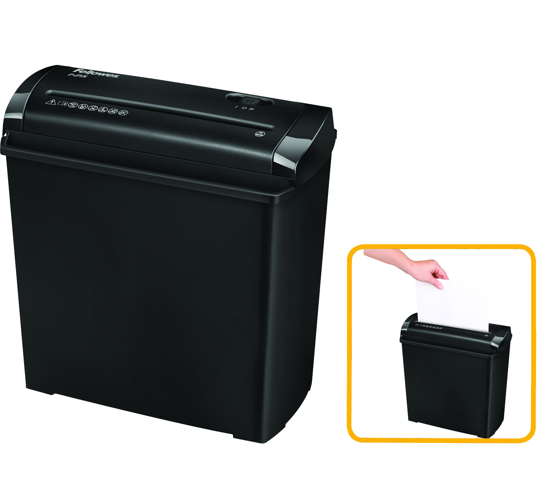 Destruidora de Papel Fellowes P-25S, 5fls, 11L